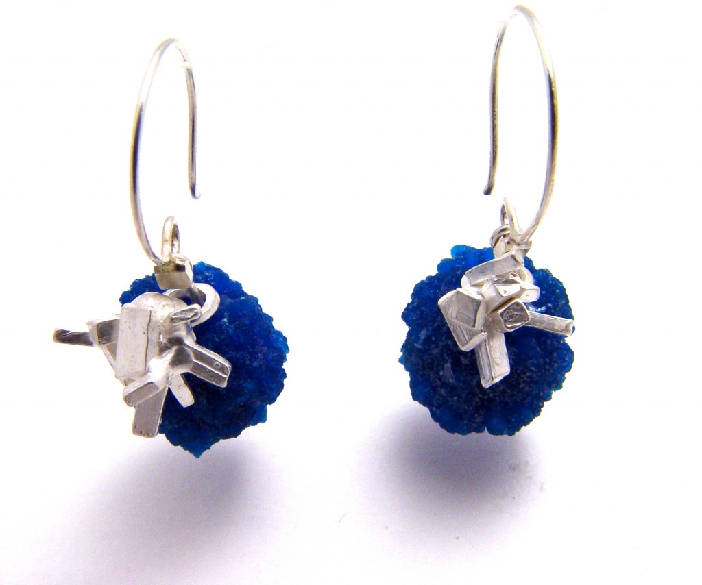 Cavansite earring large