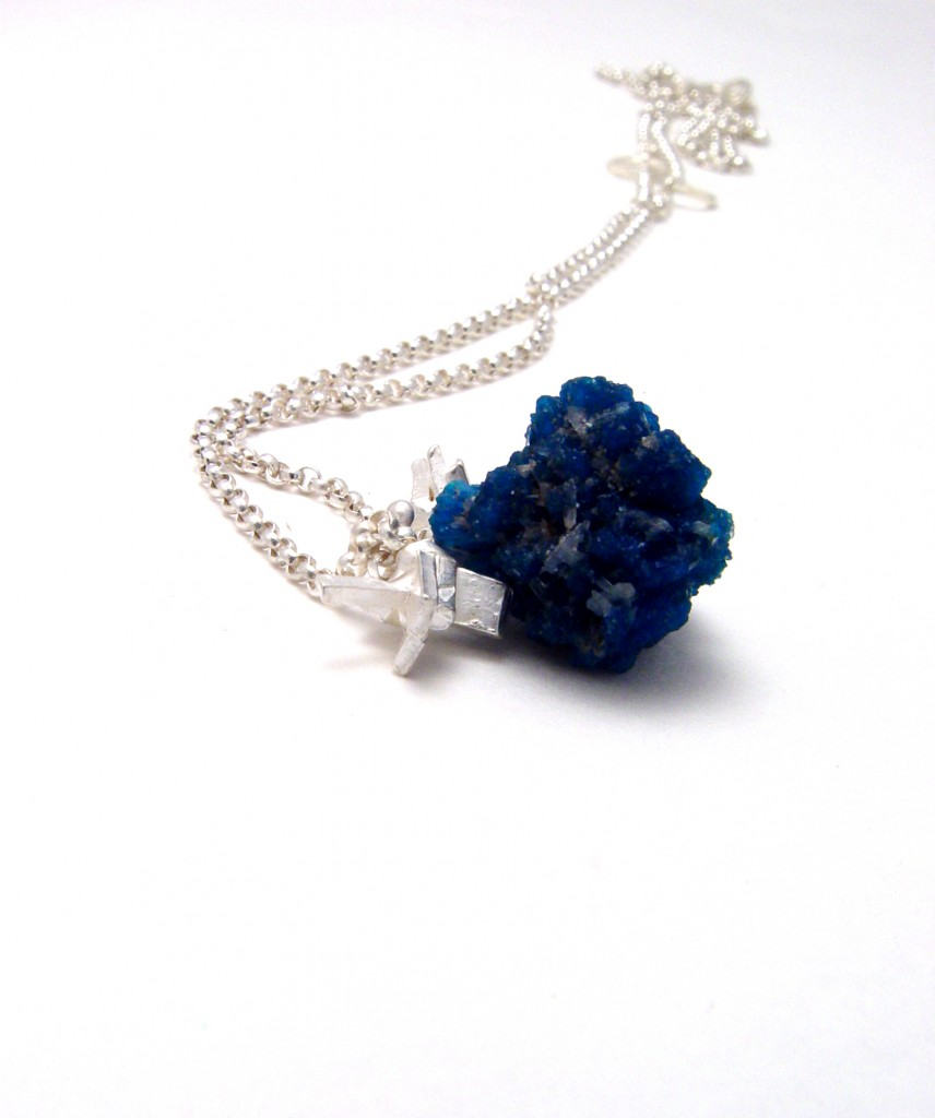 Cavansite necklace burst